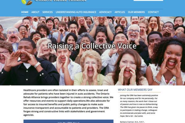 The Ontario Rehab Alliance Website