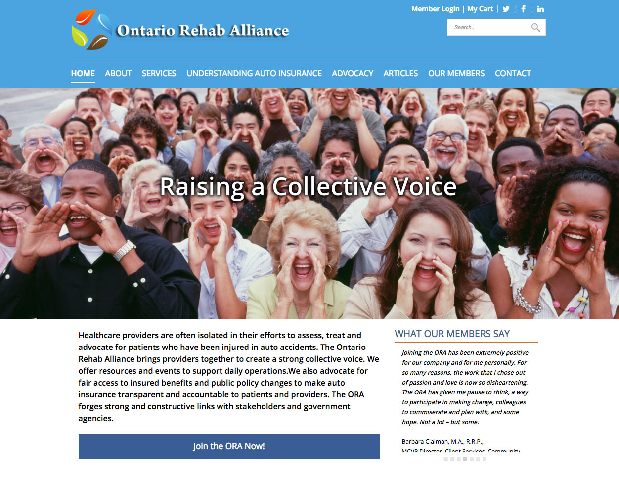 The Ontario Rehab Alliance Website